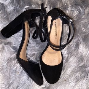 Christian Siriano Black Close-Toed Heels